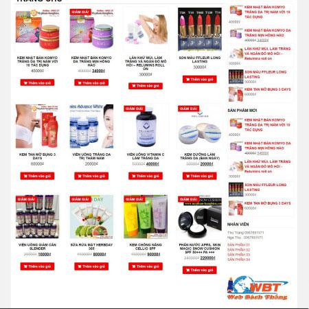 Thiết kế web bán hàng uy tín chất lượng