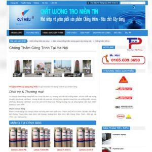 Thiết Kế Website Dịch Vụ Chống Thấm Chuẩn SEO