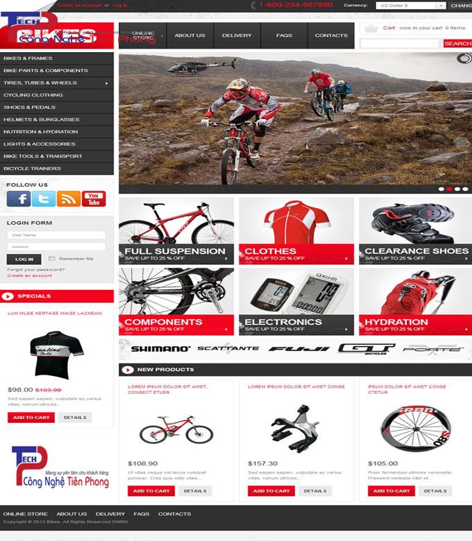 Mẫu thiết kế web bán dụng cụ tập luyện thể thao chuẩn SEO
