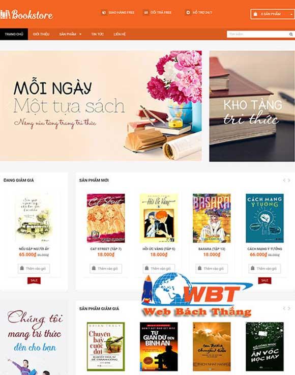 Giao diện website bán sách Online book store chuyên nghiệp