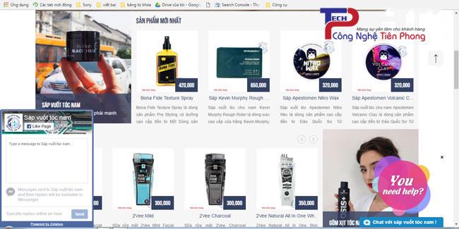 Mẫu thiết kế web bán sáp vuốt tóc chuẩn SEO