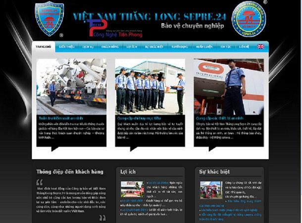 Mẫu thiết kế website dịch vụ bảo vệ chuyên nghiệp chuẩn SEO
