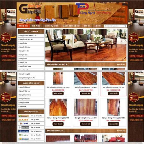 Mẫu web kinh doanh sàn gỗ đẹp hiện đại