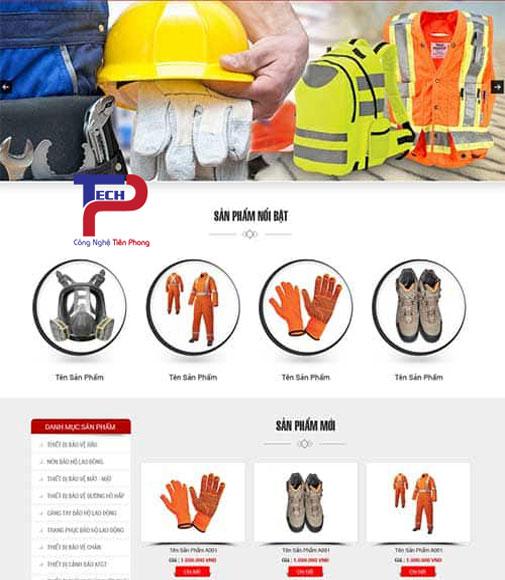 Mẫu website bán trang thiết bị bảo hộ lao động chuyên nghiệp