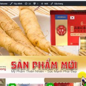 Thiết Kế Website Bán Nhân Sâm đẹp Uy Tín