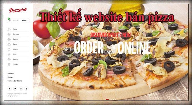 Thiết Kế Website Bán Bánh Pizza, đế Pizza, Thức ăn Nhanh đẹp Chuẩn SEO