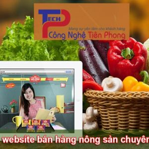 Thiết Kế Website Bán Nông Sản Sạch Nông Nghiệp