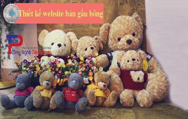 Thiết kế website bán gấu bông chuyên nghiệp chuẩn SEO