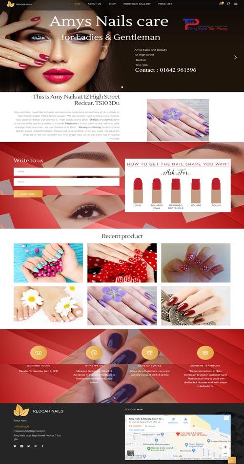 Mẫu website tiệm làm nails đẹp và chuẩn SEO chuyên nghiệp
