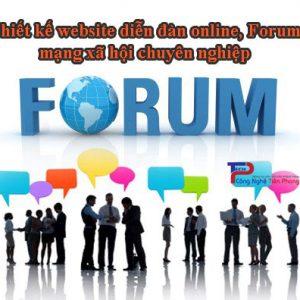 Thiết Kế Website Diễn đàn Online, Forum, Mạng Xã Hội Chuyên Nghiệp