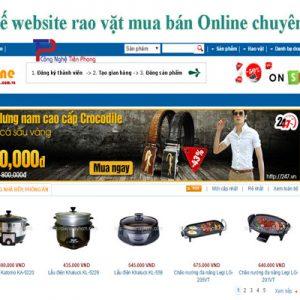 Thiết Kế Website Rao Vặt Mua Bán Online