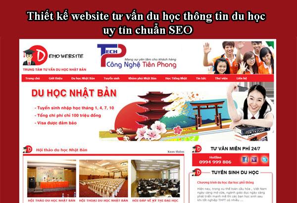 Thiết Kế Website Tư Vấn Du Học Thông Tin Du Học Uy Tín Chuẩn SEO