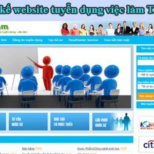 Thiết Kế Website Tuyển Dụng Việc Làm đào Tạo Lao động Uy Tín Chuẩn SEO