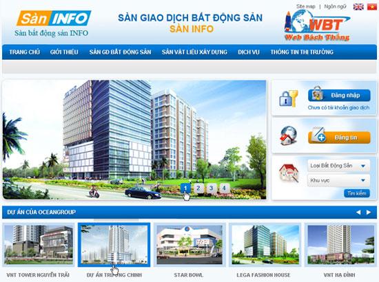 Thiết kế website bất động sản uy tín chuẩn SEO