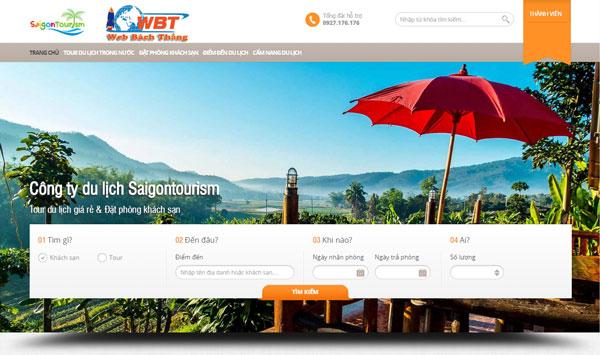 thiết kế website du lịch chuyên nghiệp hiệu quả