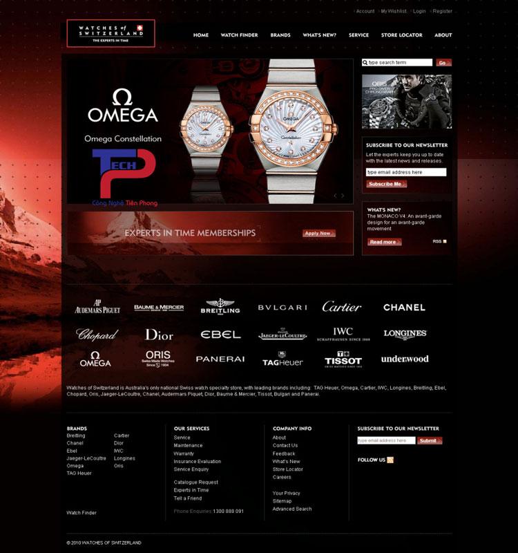 Thiết kế web bán đồng hồ chuyên nghiệp tinh tế