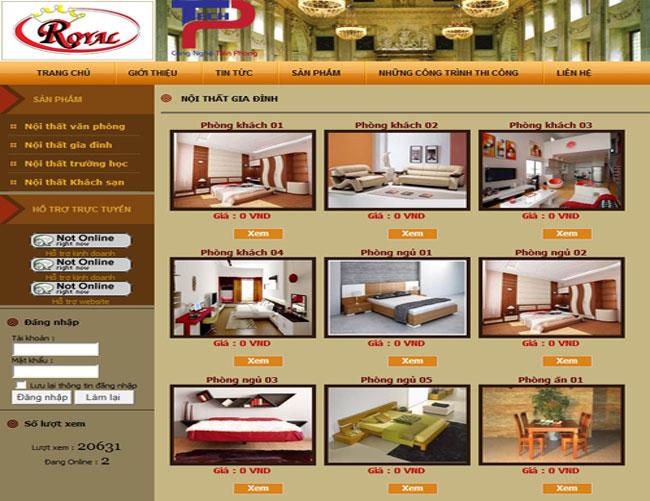 Thiết kế web đồ gỗ mỹ nghệ cao cấp