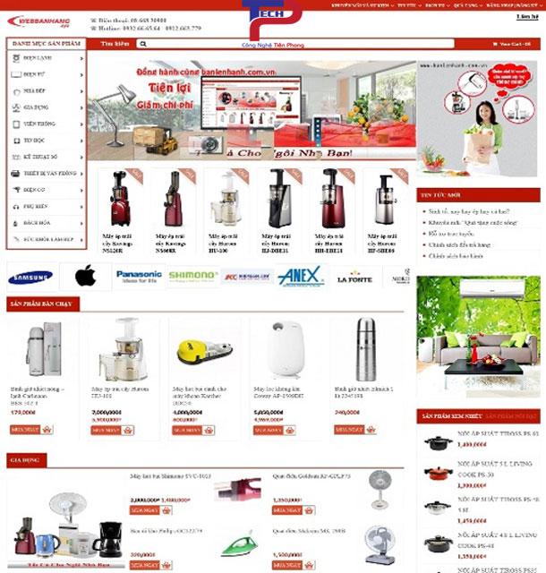 Thiết kế website bán đồ gia dụng chuyên nghiệp cao cấp