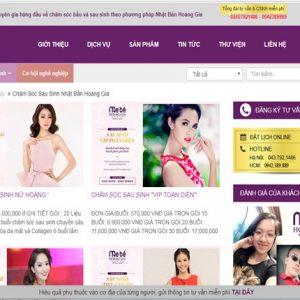 Thiết Kế Website Dịch Vụ Sau Sinh đẻ Mẹ Và Bé Chuyên Nghiệp