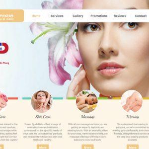 Thiết Kế Website Thẩm Mỹ Viện Spar Salon Làm đẹp