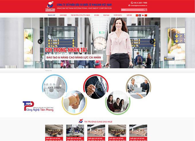 Mẫu thiết kế web xuất khẩu lao động chuyên nghiệp