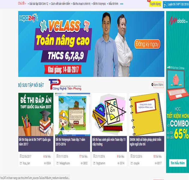 Mẫu thiết kế website bán tài liệu chia sẻ kiến thức trực tuyến Online
