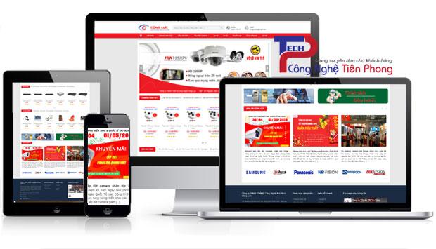 Mẫu website bán camera hành trình thiết bị giám sát chuyên nghiệp