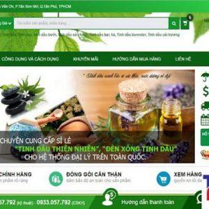 Thiết Kế Website Bán Tinh Dầu Thiên Nhiên Nguyên Chất đẹp