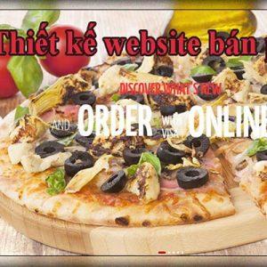 Thiết Kế Website Bán Bánh Pizza đế Pizza đẹp Mắt Chuẩn SEO