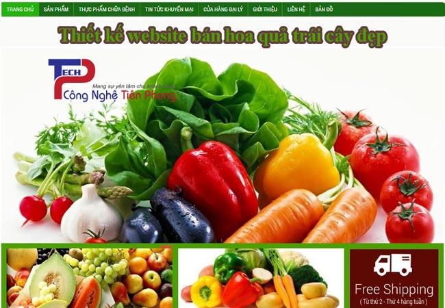 Thiết kế website bán hoa quả trái cây đẹp và uy tín