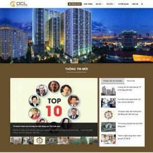 Mẫu Website Bất động Sản Giới Thiệu Nhiều Dự án TP09