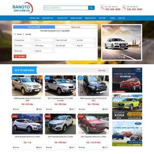 Mẫu Website Mua Bán ô Tô Cũ Mới TP07