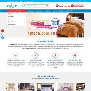 Mẫu Website Bán Chăn Ga Gối đệm TP21 được Tối ưu Chuẩn SEO, Di động