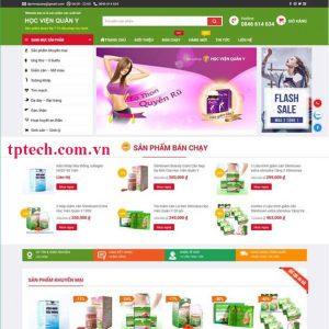 Mẫu Website Bán Dược Phẩm, Thực Phẩm Chức Năng TP12