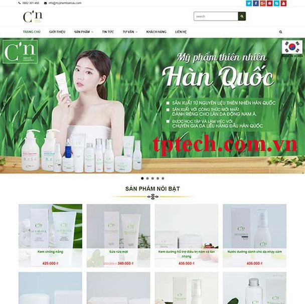 Mẫu website bán mỹ phẩm TP23