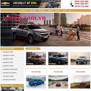Mẫu Website Bán Xe ô Tô Xe Hơi TP15