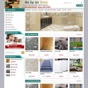 Mẫu Website Cửa Hàng Bán đá ốp Lát TP10 Online