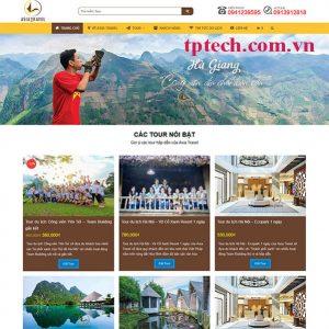 Mẫu Website Dịch Vụ Du Lịch Lữ Hành TP11
