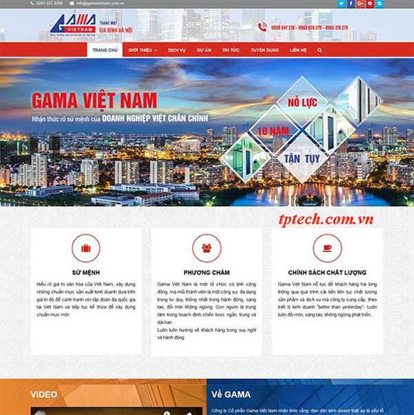 Mẫu website giới thiệu công ty thang máy TP26