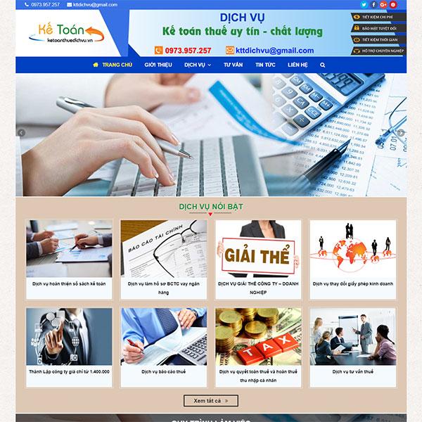 Mẫu website kế toán thuế dịch vụ TP01