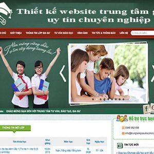 Thiết Kế Website Trung Tâm Gia Sư Uy Tín Chuẩn SEO