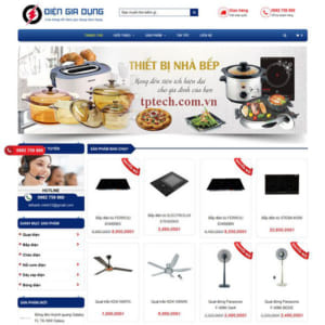 Mẫu Website Bán đồ điện Gia Dụng TP32