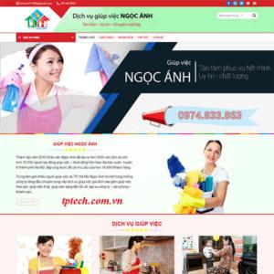 Mẫu Website Công Ty Giúp Việc Gia đình TP29