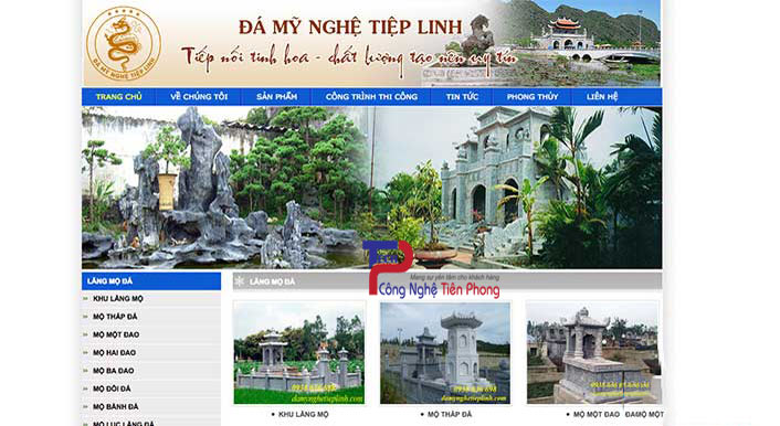 Thiết Kế Website Bán đá Mỹ Nghệ đồ đá Thủ Công Cao Cấp Chuyên Nghiệp