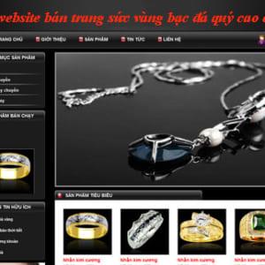 Thiết Kế Website Bán Trang Sức