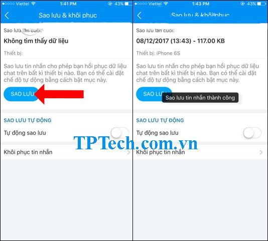 Cách sao lưu dữ liệu tin nhắn zalo nhanh trên điện thoại