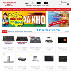 Mẫu Website Bán Bếp Các Loại TP41 Bếp Gas Bếp điện