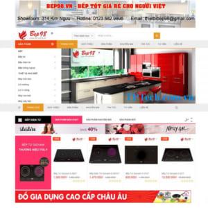 Mẫu Website Bán Bếp đồ Gia Dụng TP40