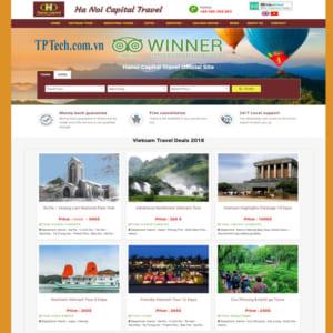Mẫu Website Bán Tour Du Thuyền Khách Sạn TP39
