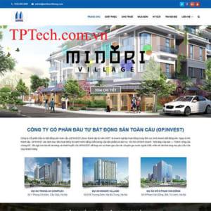 Mẫu Website Bán Và Cho Thuê Bất động Sản TP35